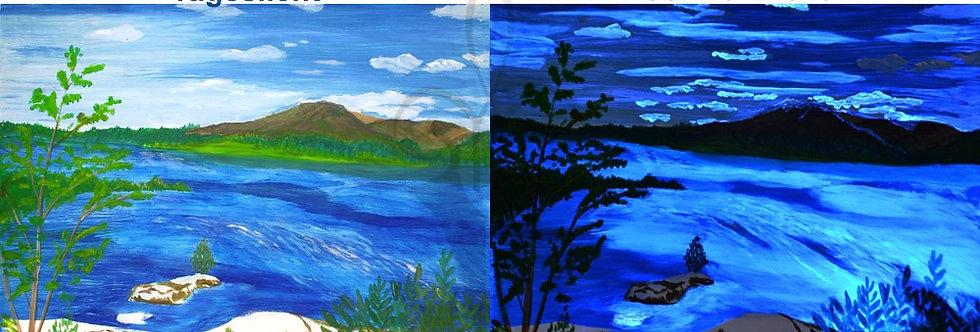 Landschaft 2 Schicht Effekt