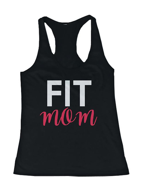 Fit Mom Workout Tanktop Cute Mothers Day or Holiday Gifts for Gym Mom