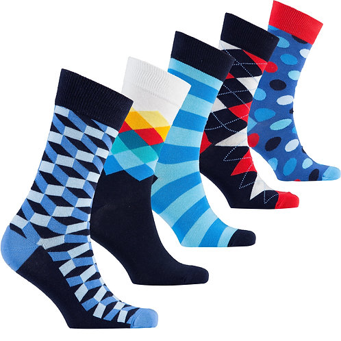 Men's Natural Mix Set Socks