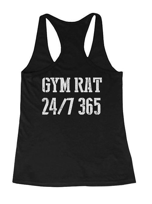 Gym Rat 24/7 365 Back Print Women's Workout Tank Top Sleeveless Sports Tank