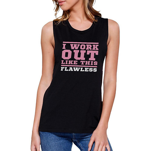 Flawless Work Out Muscle Tee Women's Workout Tank Gym Sleeveless Top