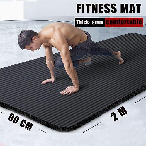 Black Rubber Fitness - Yoga Mat (10MM Non Slip)
