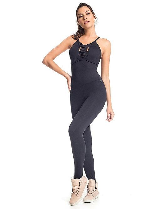 Black Sting Workout Jumpsuit