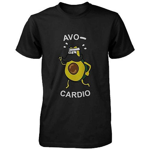 Avocardio Funny Men's Shirt Cute Work Out Tee Cardio Short Sleeve T-Shirt