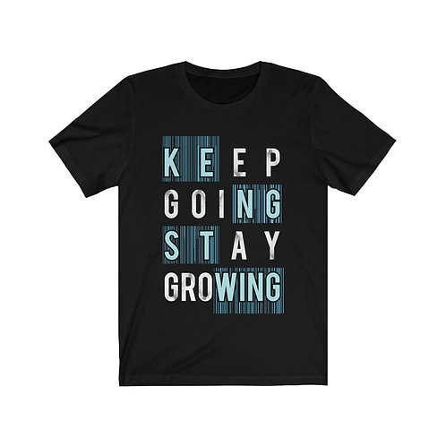 Keep Going Stay Growing Inspiration Quote