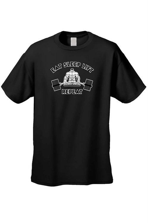 Men's/Unisex Eat Sleep Lift Workout Fitness Humor Short Sleeve T-Shirt
