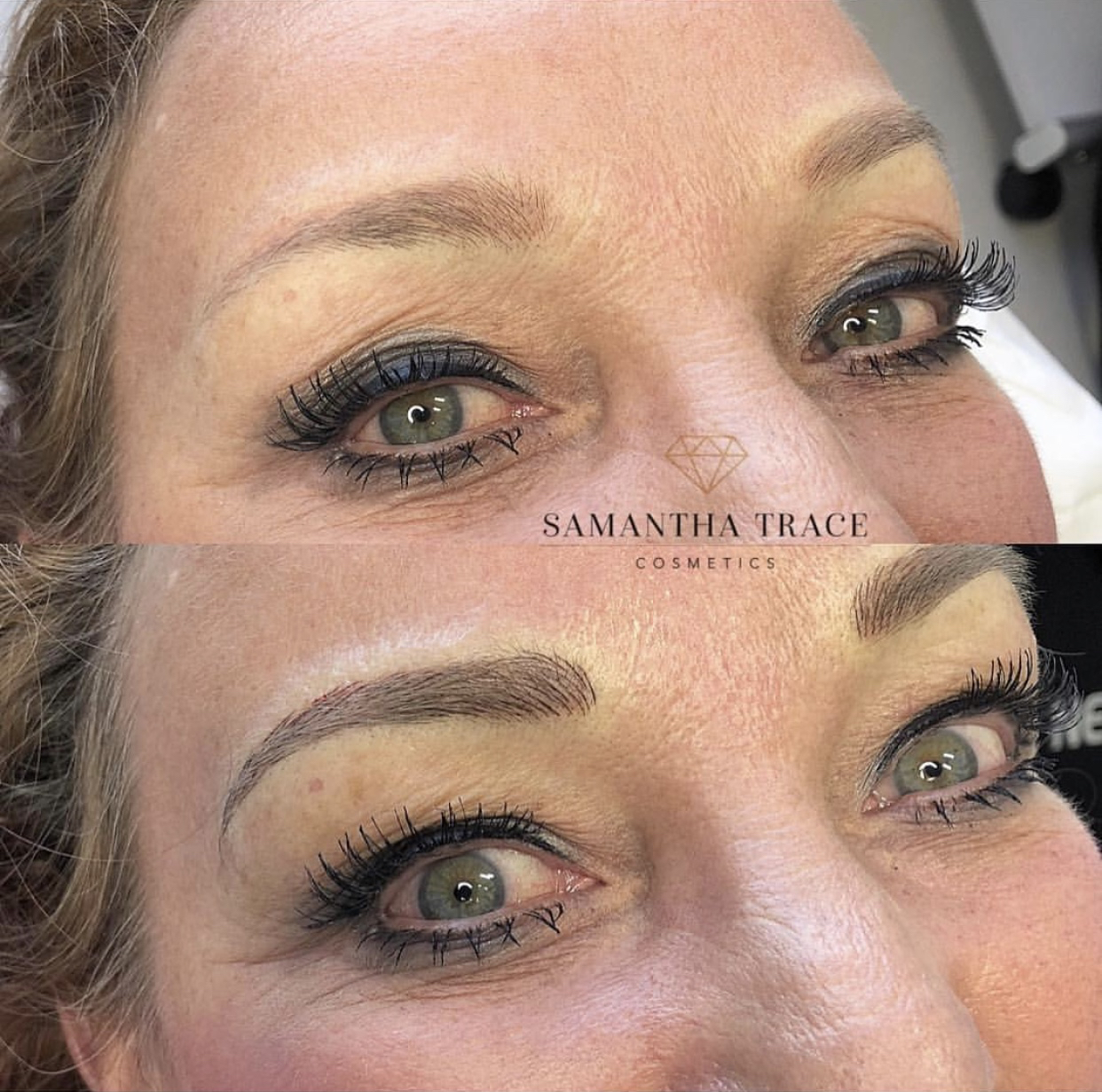 Microblading old tattoo