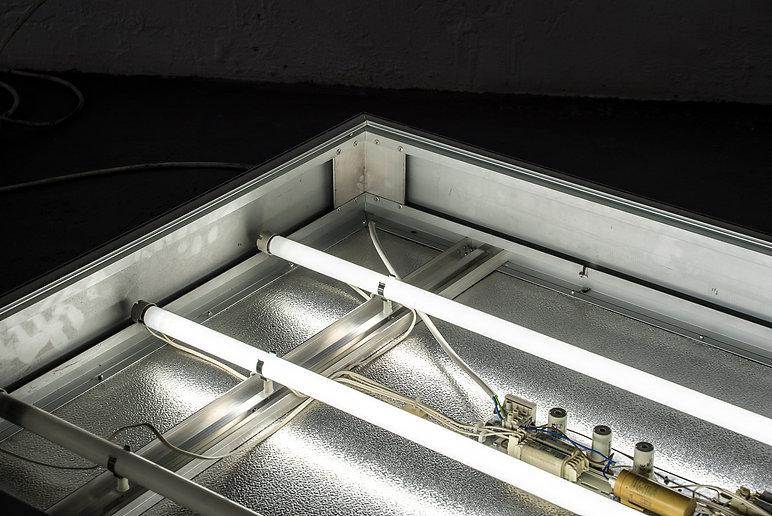 Norman Mine light box for a wall installtion makes art brutal