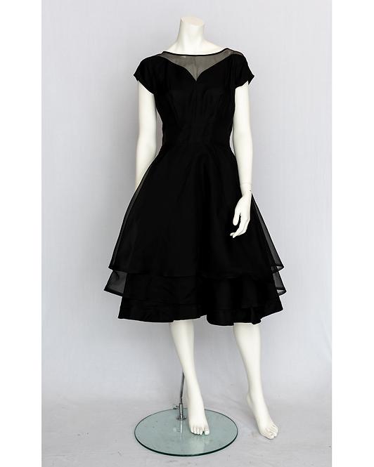 50's Black Cocktail Dress