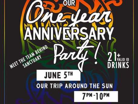Our Trip Around The Sun - One Year Anniversary Party June 5th