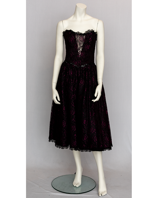 80's Lace Prom Dress