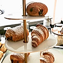 Croissant filled with chantilly cream