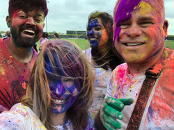 Holi with friends