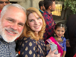My wife and I attending a friend's wedding in India