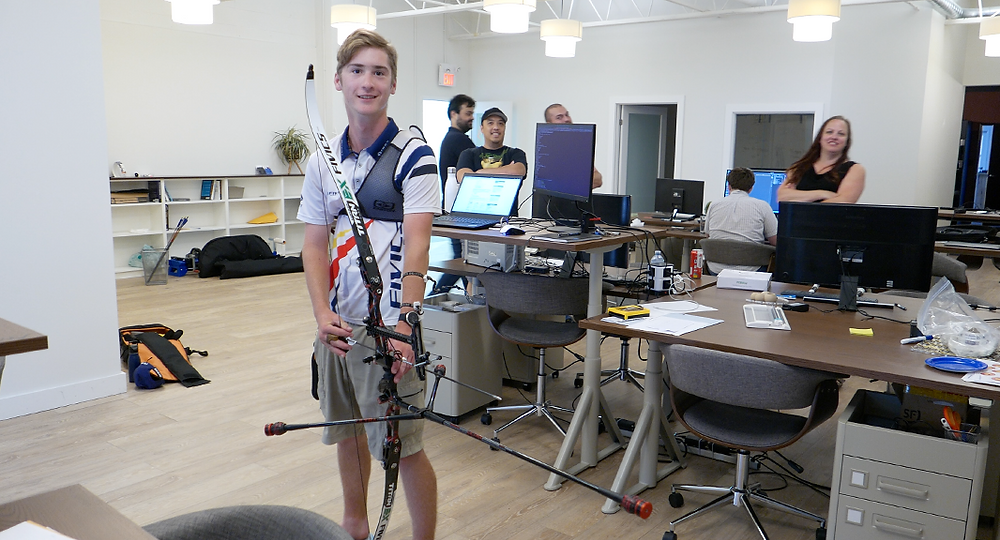 Canadian junior archer Dawson Oderkirk for Archery Day in Canada with BOWdometer
