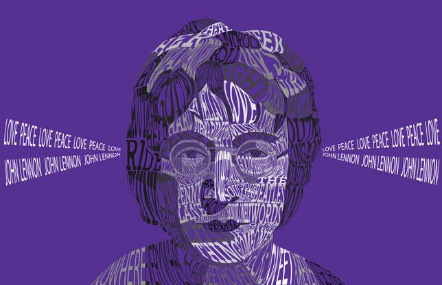 Lennon Type Portrait