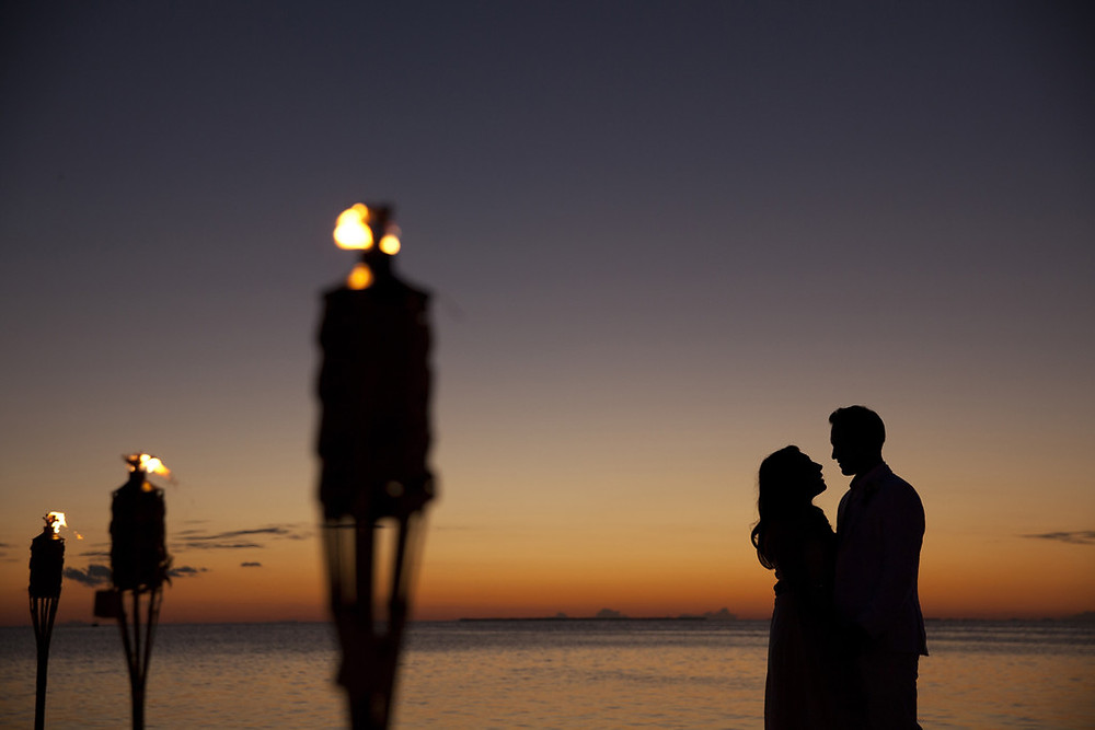 First Dance in the sunset.