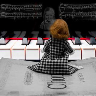 Barbie joue du Chopin