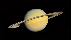 Saturn and Their Rings - Viewing the Galaxy from Another Planet's Surface