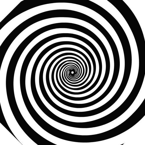 A black and white spiral.