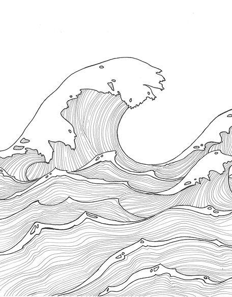 ocean waves art Kayla Oceana
