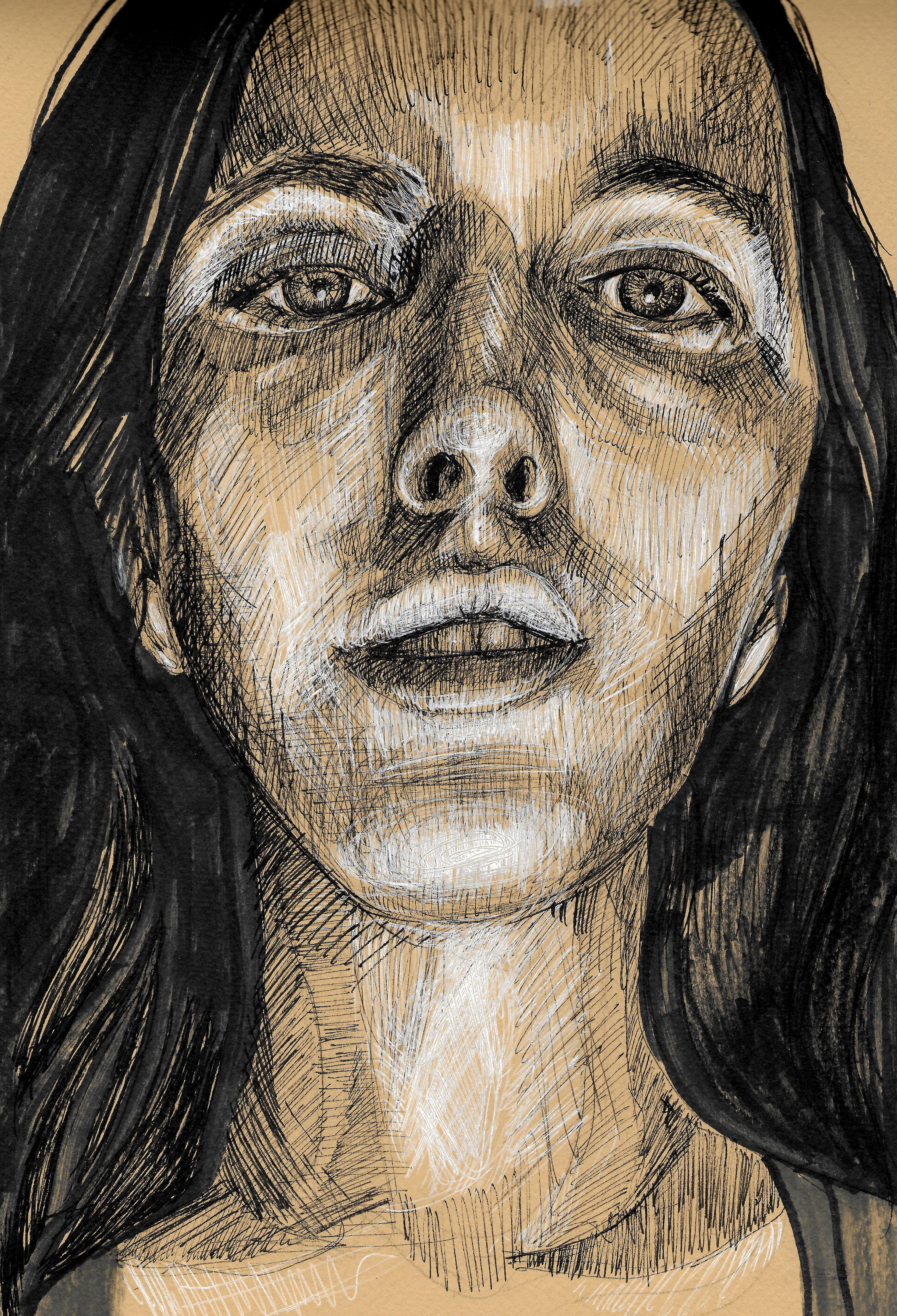 portrait close up on midtone