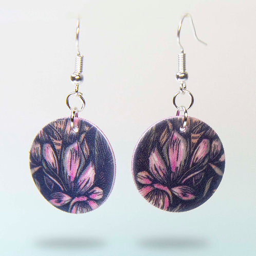 Innermost flower detail drop earrings