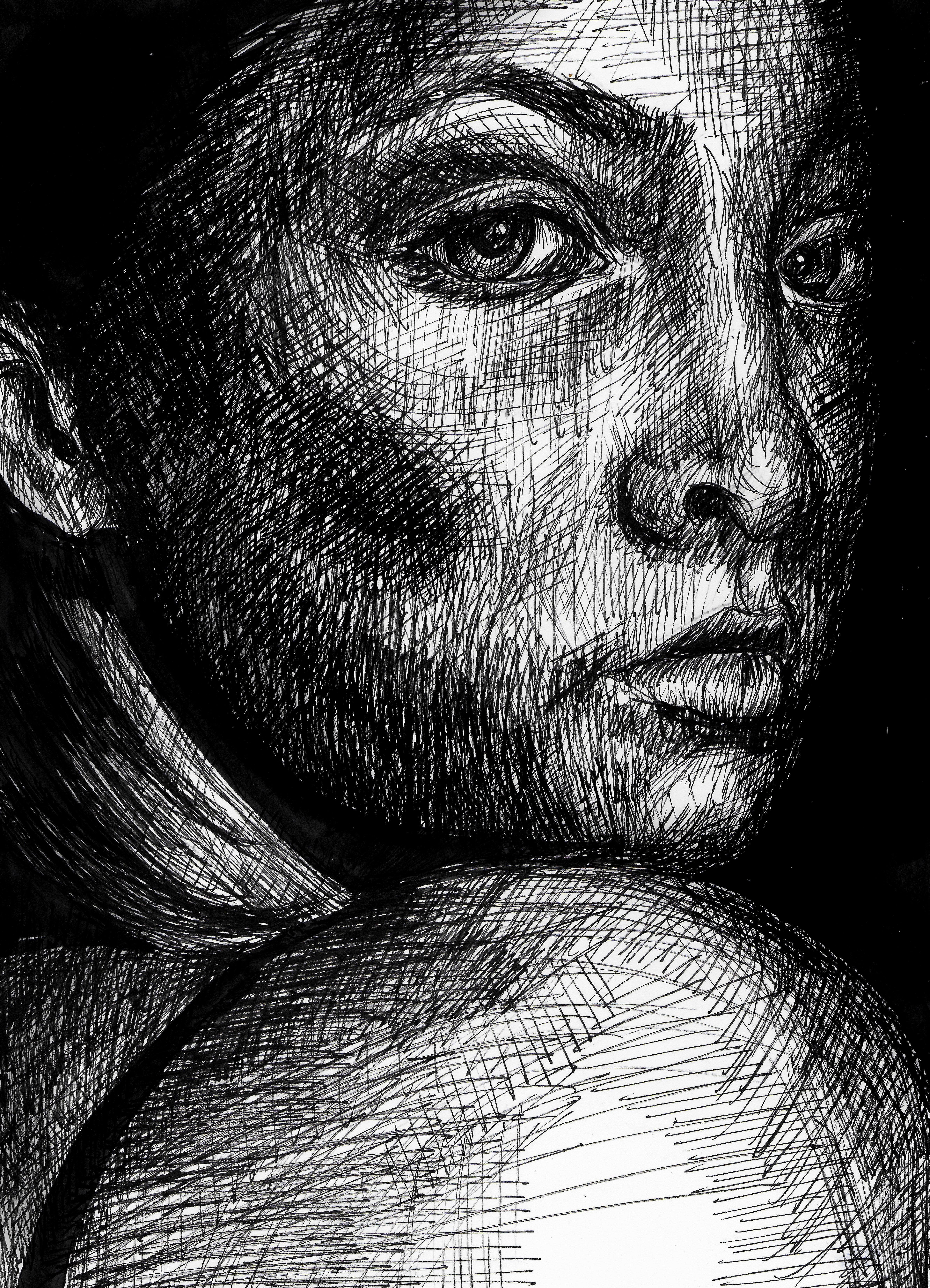 portrait looking behind