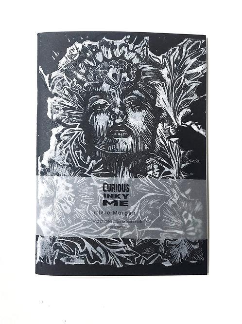 Black hand printed A5 sketchbook