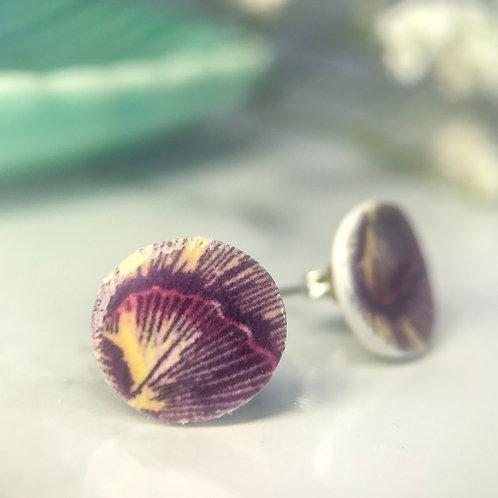Muse petal stud earring