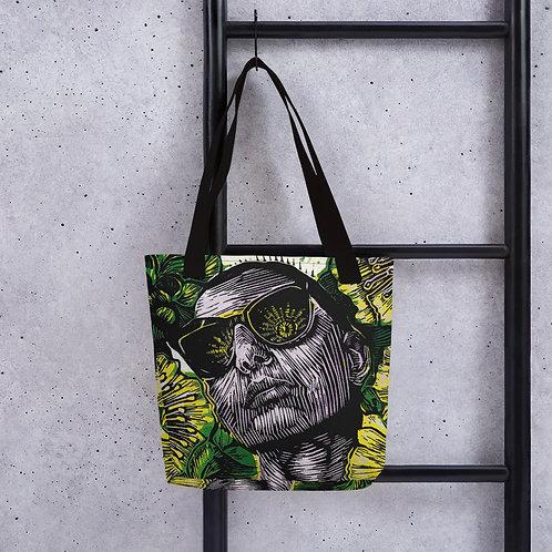 Glow tote bag original artwork on both sides
