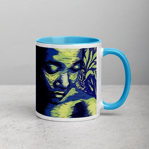 Contemplate ceramic mug with blue inside