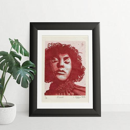 Moment reduction lino print