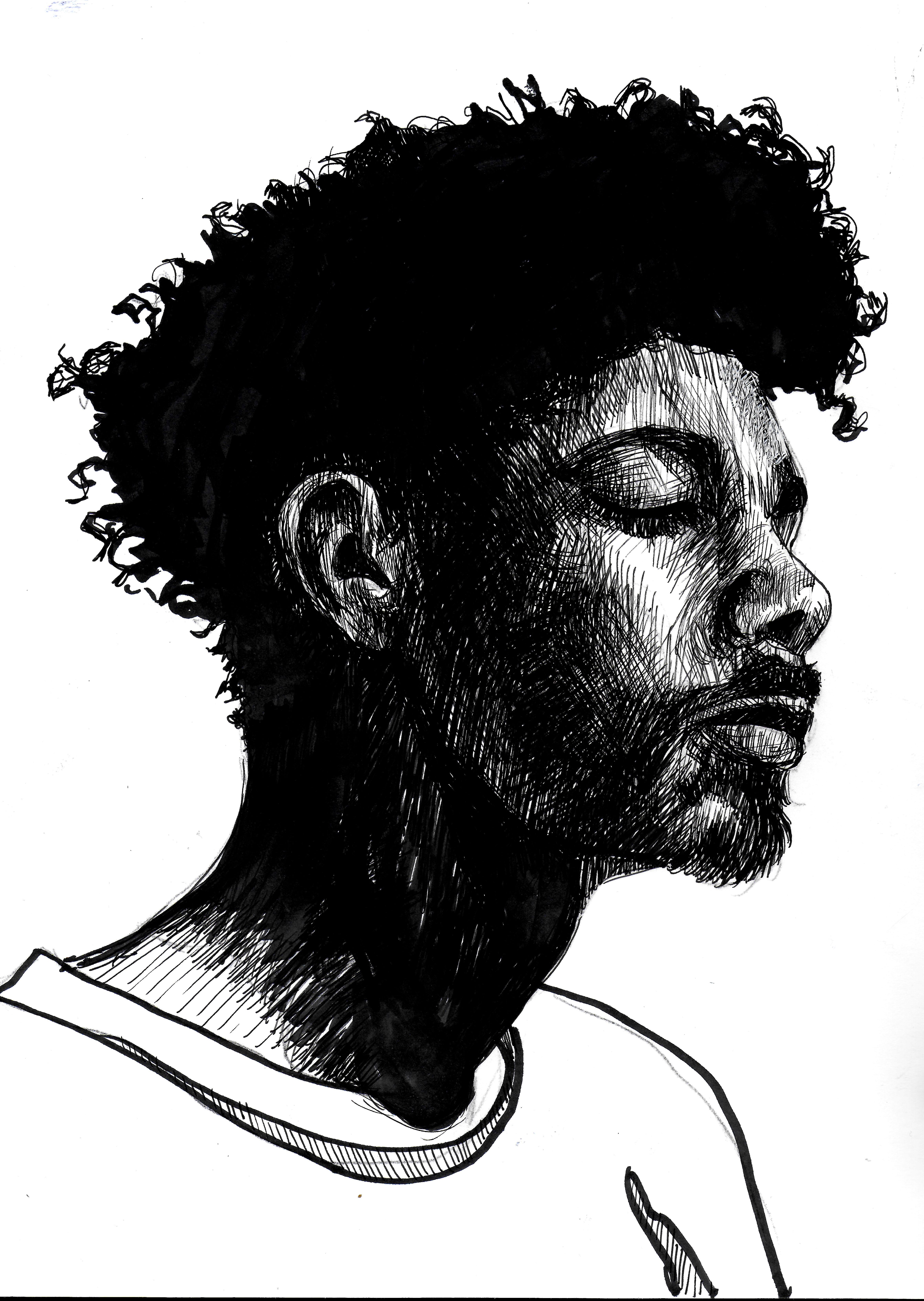 pause profile portrait