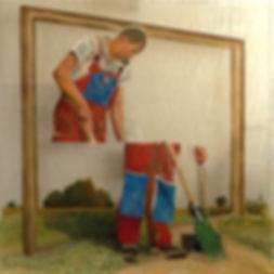 """""""Русский пейзаж"""", плексиглас, масло, 100х100 см."""