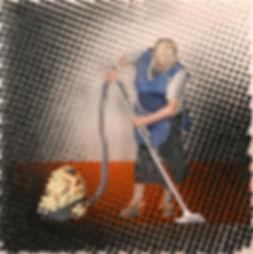 Красная дорожка, плексиглас-масло,100х100 см,2012