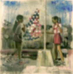 """Куба"", плексиглас, масло, 100х100см., 2013"