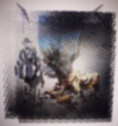 """""""Фашист пролетел"""", плексиглас, масло,120х100 см., 2012, автор Потапов Владимир"""