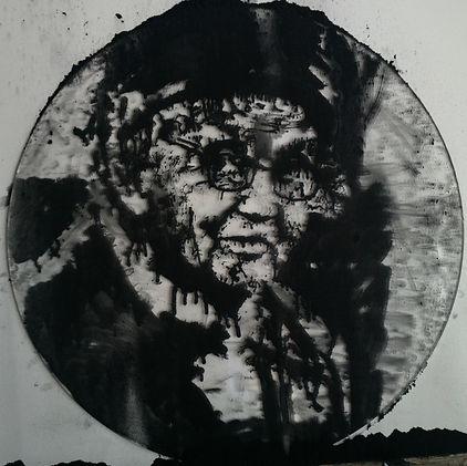 """""""Memory №2"""", плексиглас, пигмент, диам. 35см., 2014,автор Потапов Владимир"""