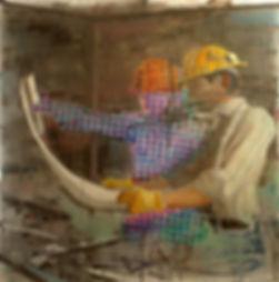 План, плексиглас-масло,100х100 см,2012