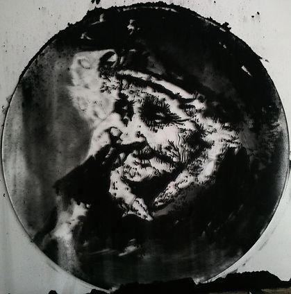 """""""Memory №1"""", плексиглас, пигмент, диам. 35см., 2014,автор Потапов Владимир"""