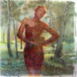 """""""Дива"""", плексиглас, масло, 100х100см., 2013"""