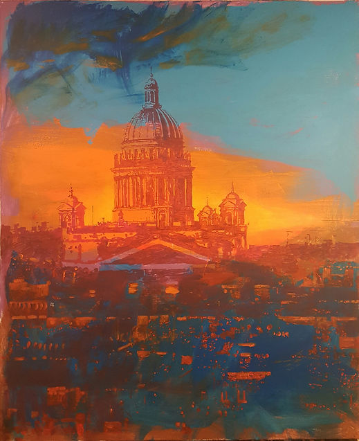 """""""W"""", view of St. Isaac's Cathedral"""