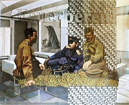 """Feuerbereit!"", плексиглас, масло,120х100 см., 2012, автор Потапов Владимир"