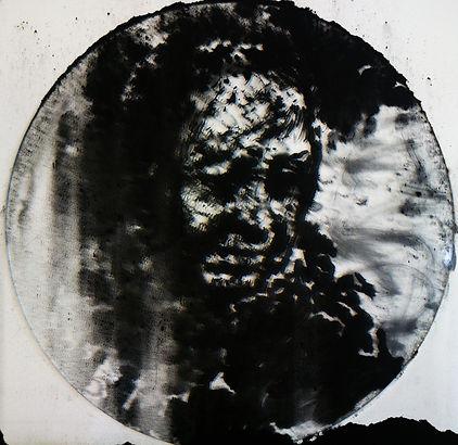 """""""Memory №3"""", плексиглас, пигмент, диам. 35см., 2014,автор Потапов Владимир"""