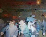 Эффект паруса, холст, масло, перфорация, 2013, автор Потапов Владимир