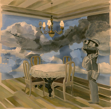 Небесный предел, плексиглас-масло,100х100 см,2012