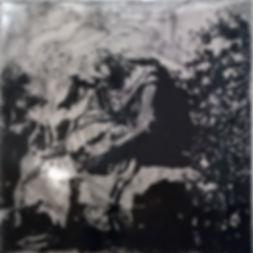 Скорбящая-мать, 100х100 см., пигмент,плексиглас,смола,2014