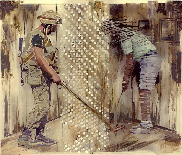 """""""Дуэль"""", плексиглас, масло, 100х120см., 2013"""
