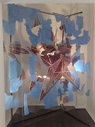 Пентакль, плексиглас, масло, 205х160 см., 2011